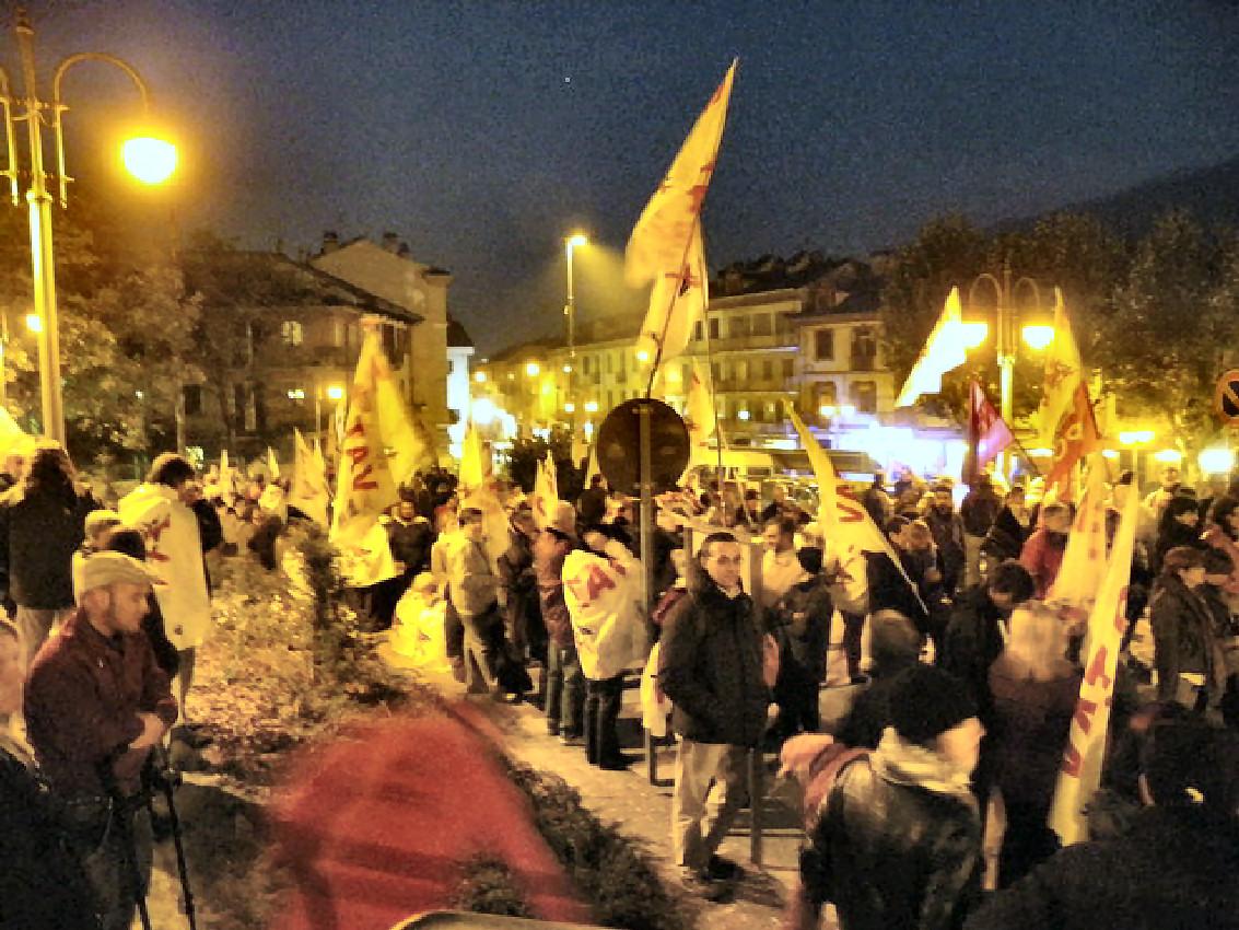 Manifestazione Bussoleno per Terzigno